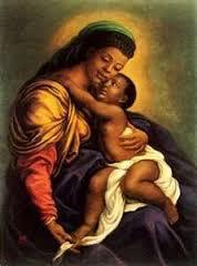Dark madonna & child
